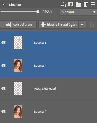 Lernen Sie Porträts zu retuschieren - editor ebenen