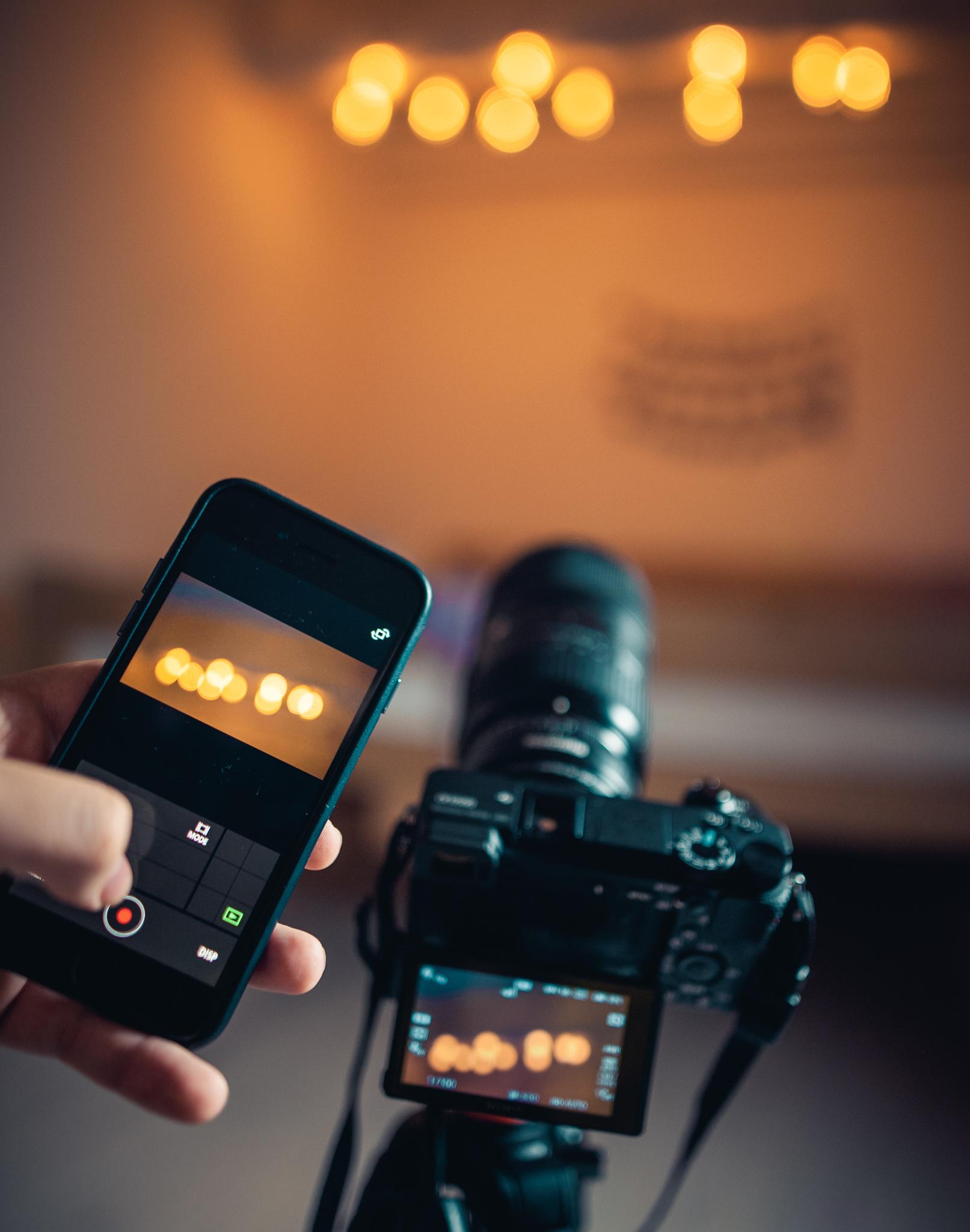 Anwendungen können beispielsweise zur Fernsteuerung der Kamera verwendet werden.