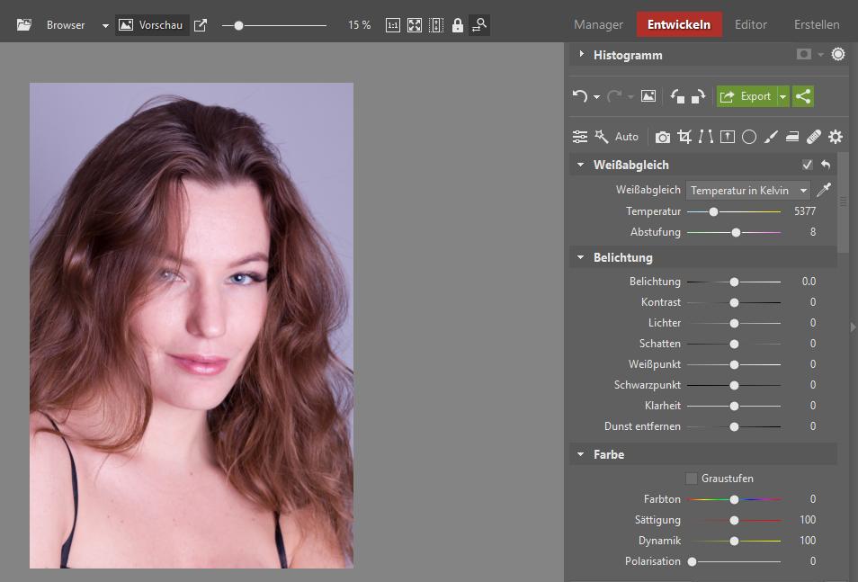 Lernen Sie Porträts zu retuschieren - original