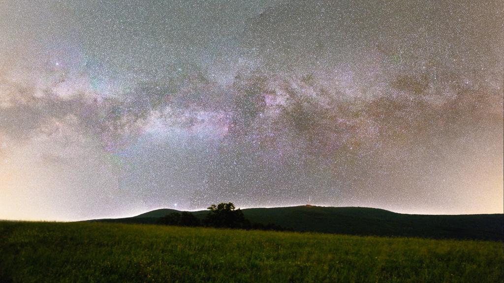 Landschaften bei Nacht fotografieren - panorama milchstrasse