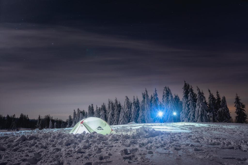 Landschaften bei Nacht fotografieren - zelt