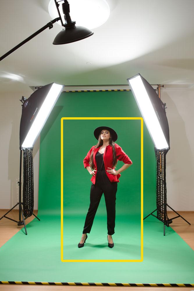 Fotografieren im Atelier - model hintergrund