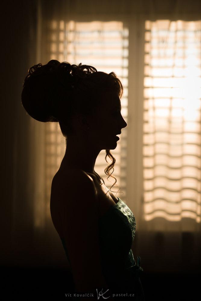 Models fotografieren II - silhouette mit fenster
