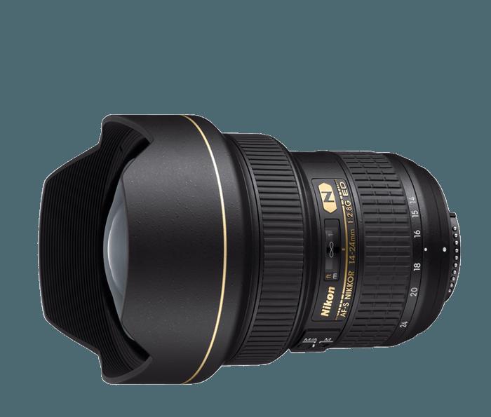 Fotokamera und Objektiv für Landschaftsfotografie - Nikkor 14-24
