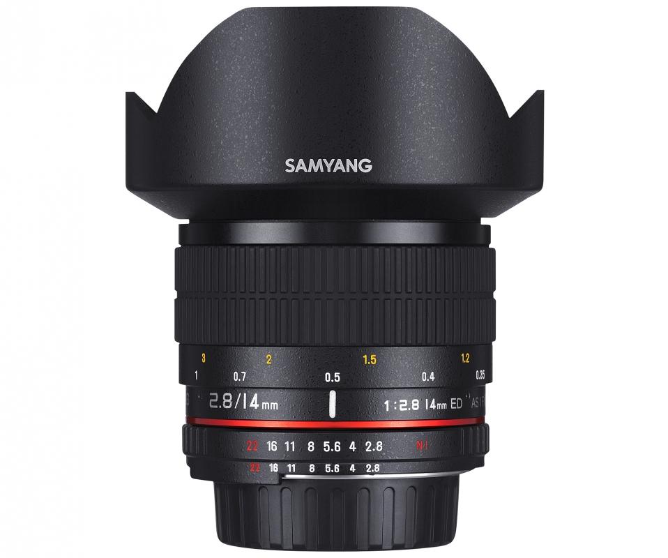 Fotokamera und Objektiv für Landschaftsfotografie - Samyang 14mm