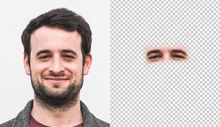Das resultierende Gesicht
