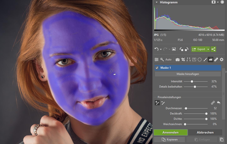 Porträtretusche - maske