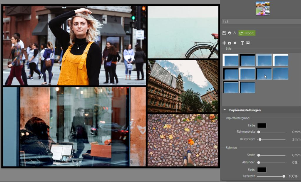 Erstellen Sie Ihre eigene Collage im ZPS X - stile