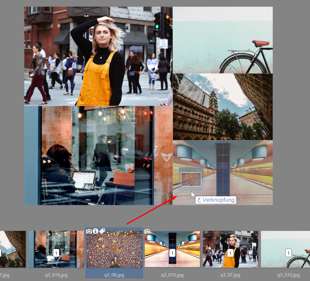 Erstellen Sie Ihre eigene Collage im ZPS X - verknupfung