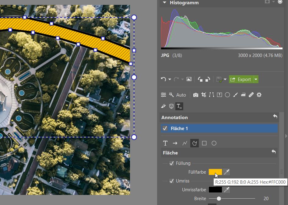 Annotation: Objekte auf Fotos markieren, beschreiben, den Weg weisen - werkzeuge