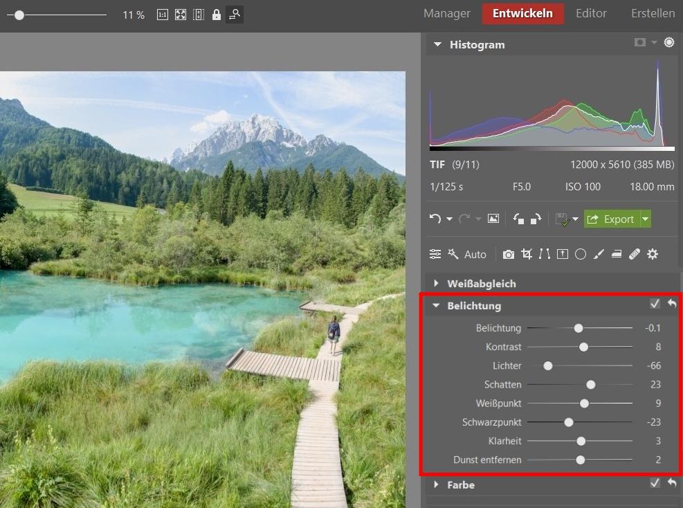 Landschaftsfotografie in Slowenien - Belichtung