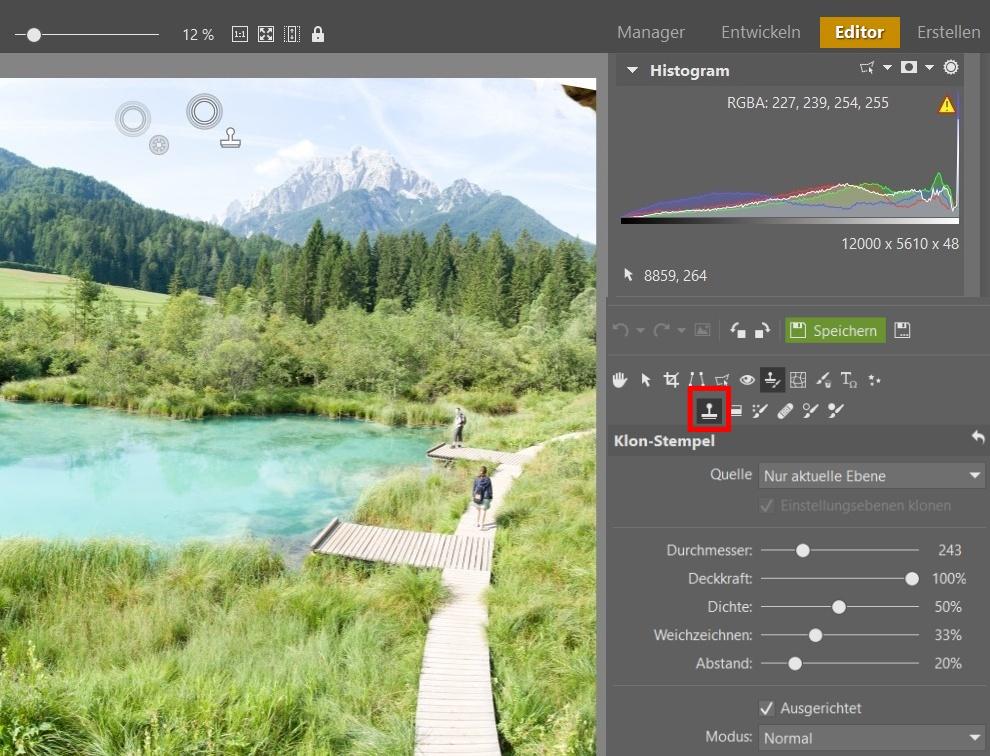 Landschaftsfotografie in Slowenien - Kopierstempel