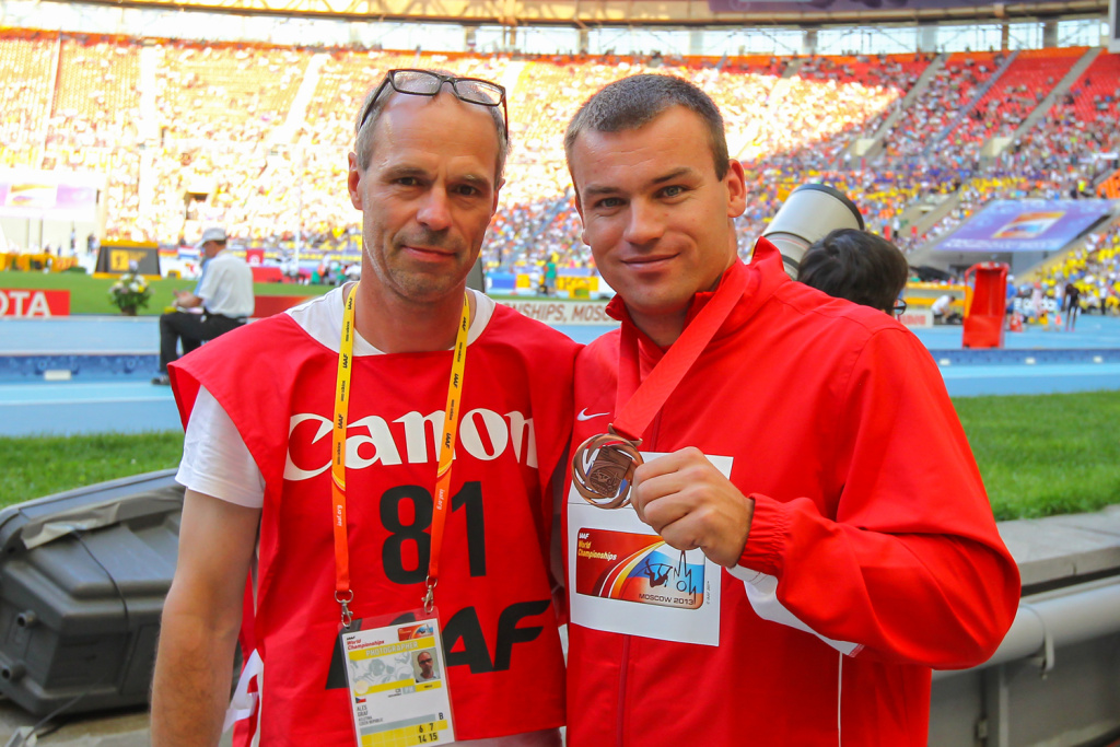 Leichtathletik-Fotograf Aleš Gräf - Aleš Gräf mitt Lukáš Melich