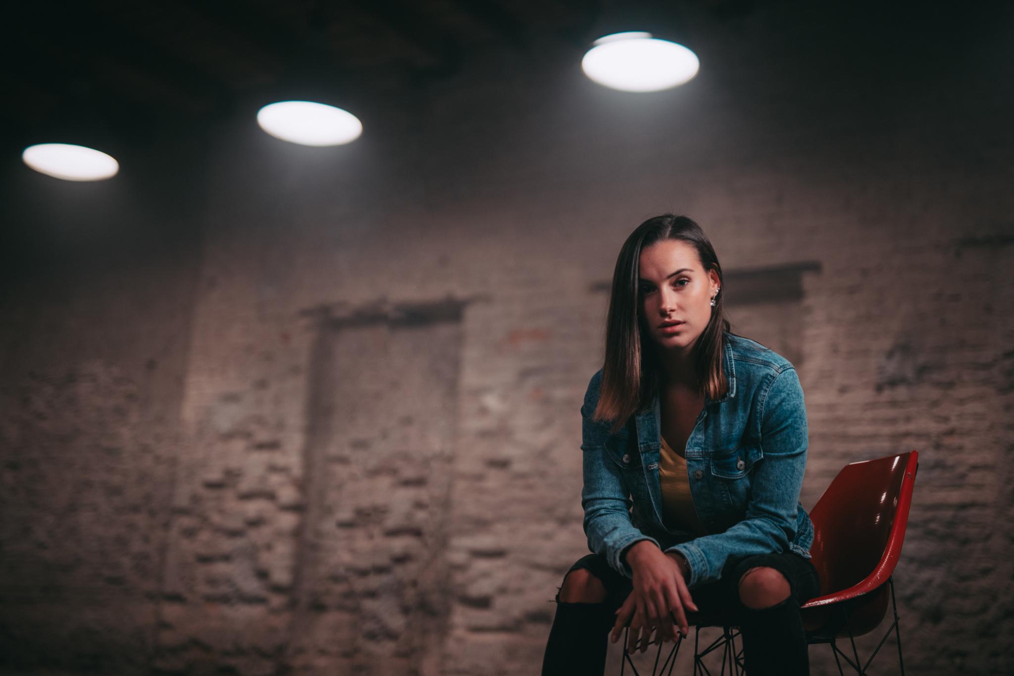 Portrait mit LED-Ringlicht - gesicht