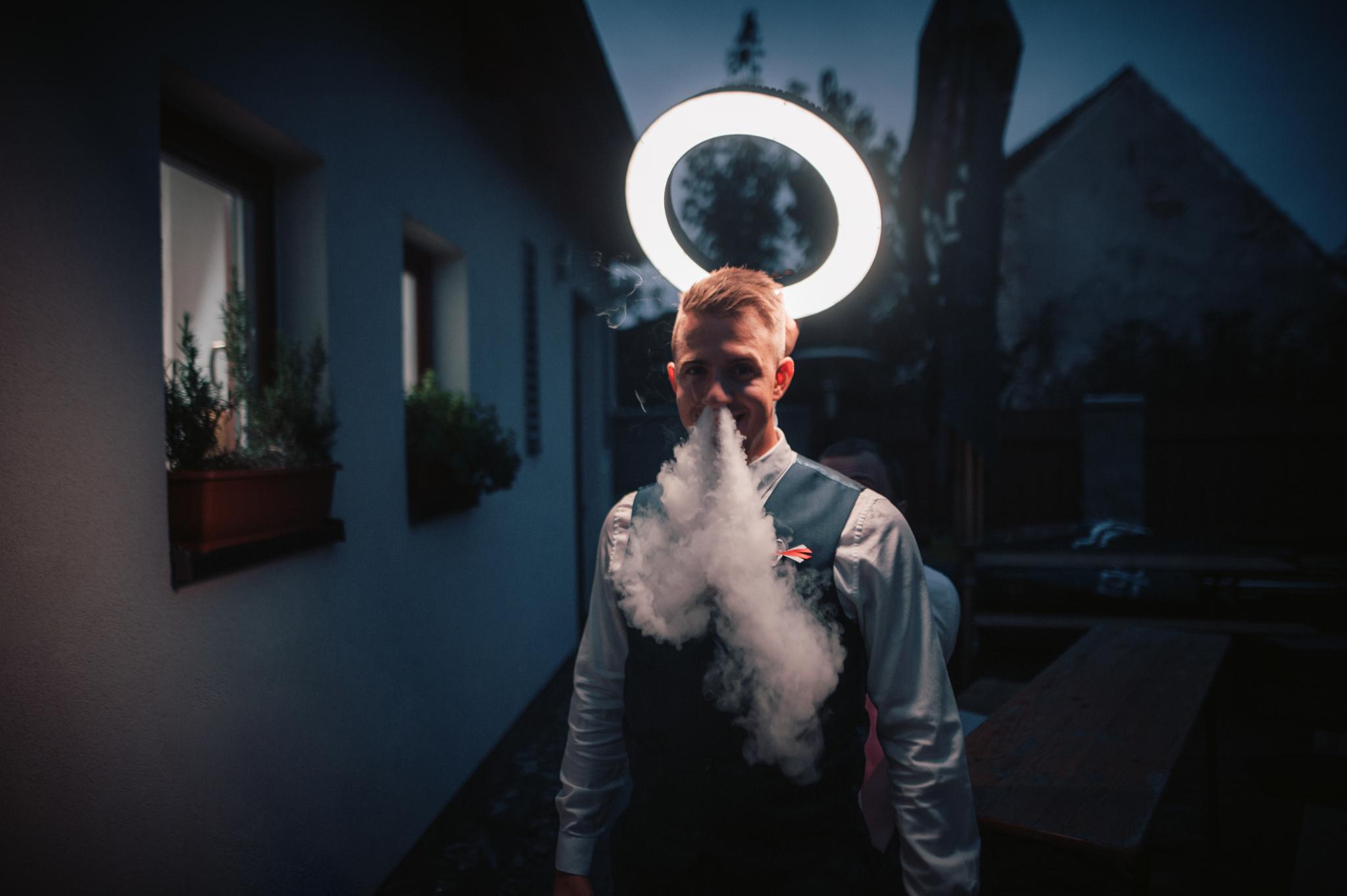 Portrait mit LED-Ringlicht