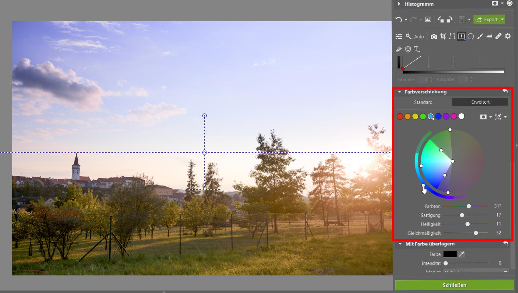 Wie verwendet man den Grauverlaufsfilter bei der Bildbearbeitung