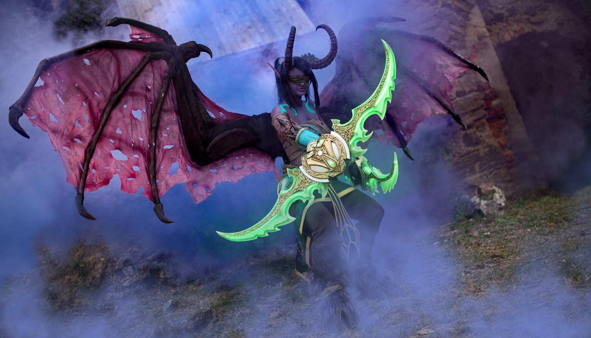 Wie man Bilder von Cosplay macht - Warcraft, Illidan