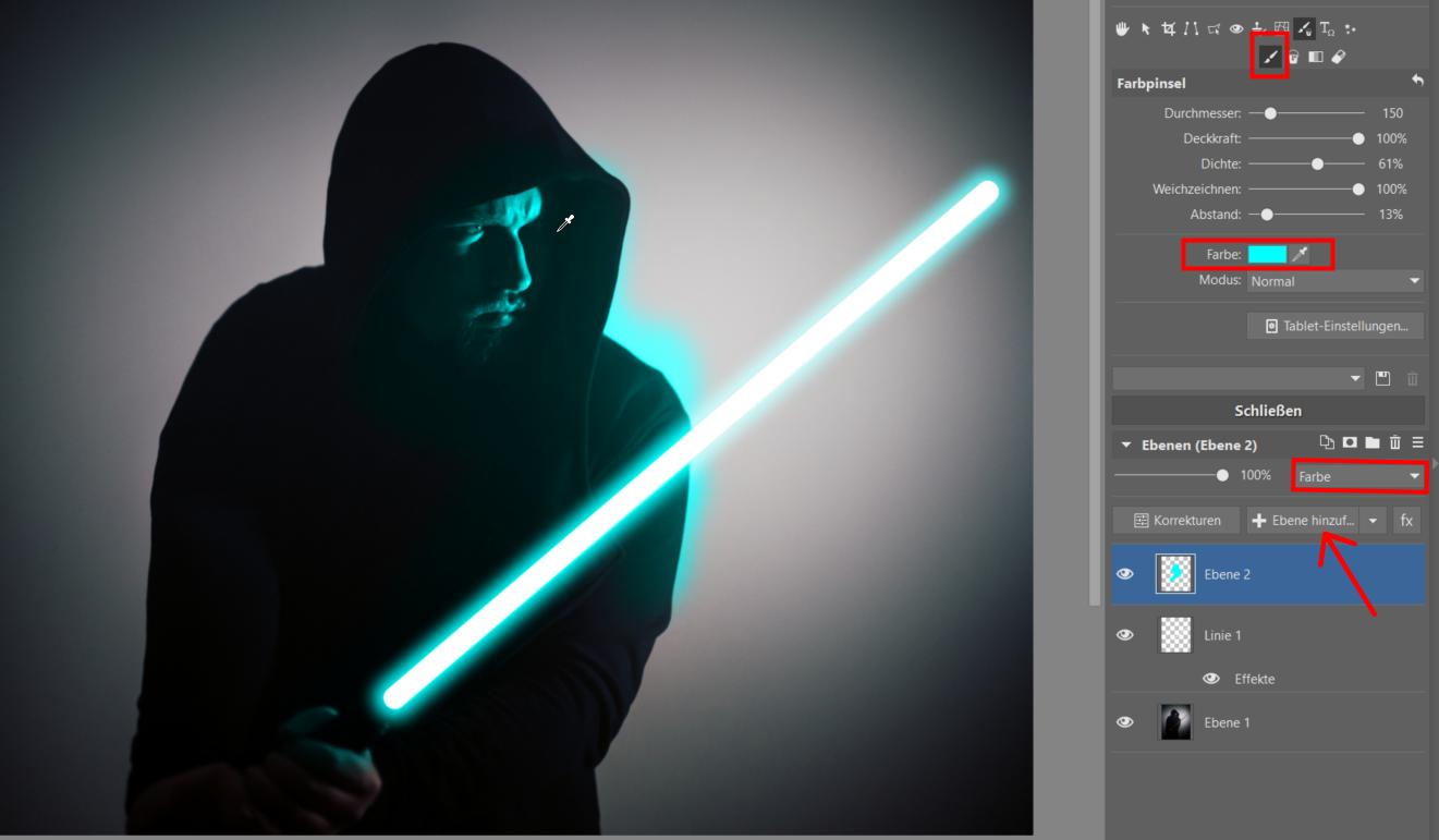 Star Wars Special: Fügen Sie Ihrem Foto ein Lichtschwert hinzu