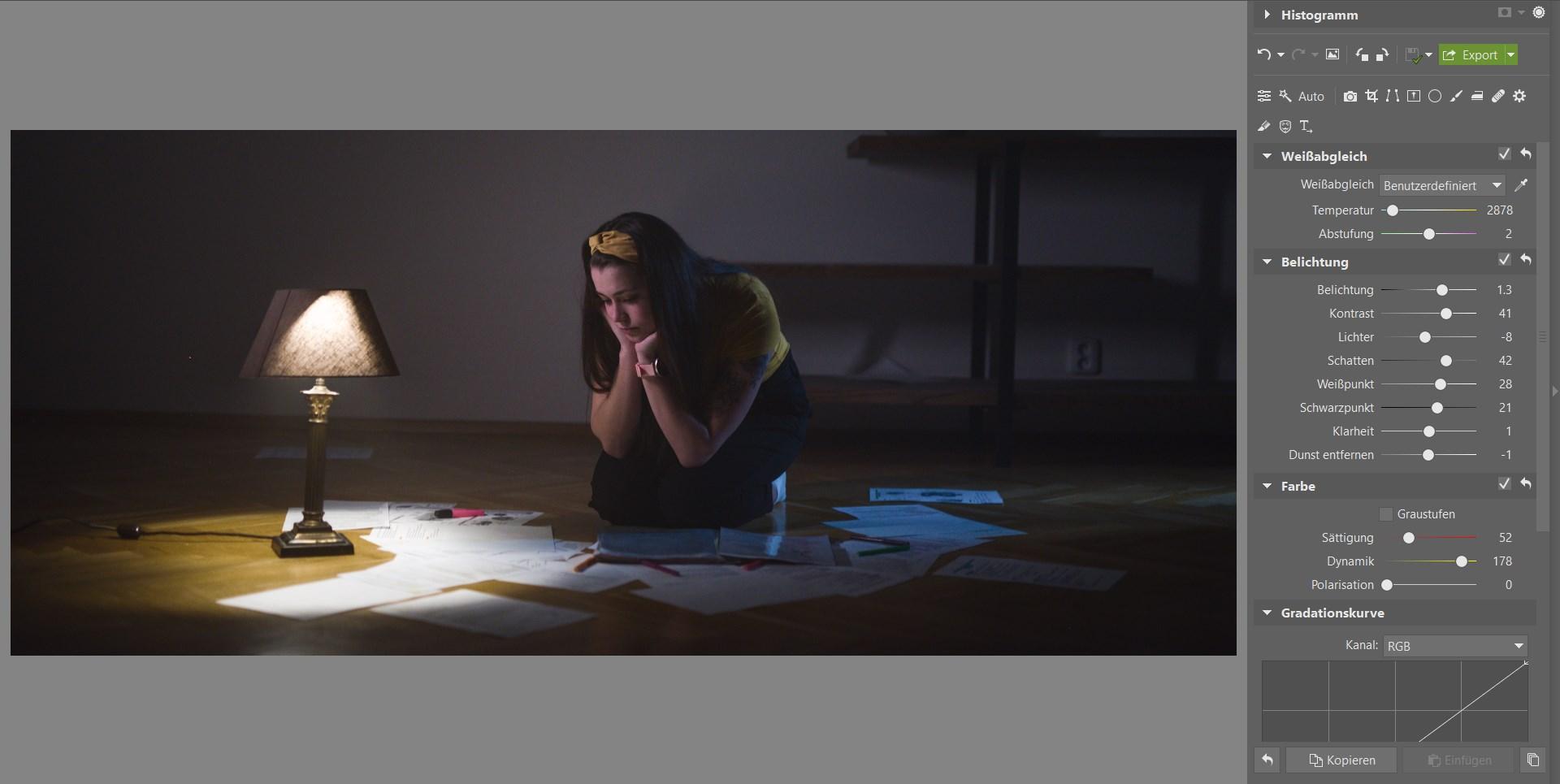 Bildbearbeitungsschule im ZPS X III: Bearbeiten Sie Ihr Foto im Filmstil