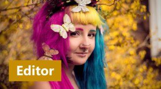 Bildbearbeitung eines Frühlingsporträts II: Erweiterte Retusche im Modul Editor