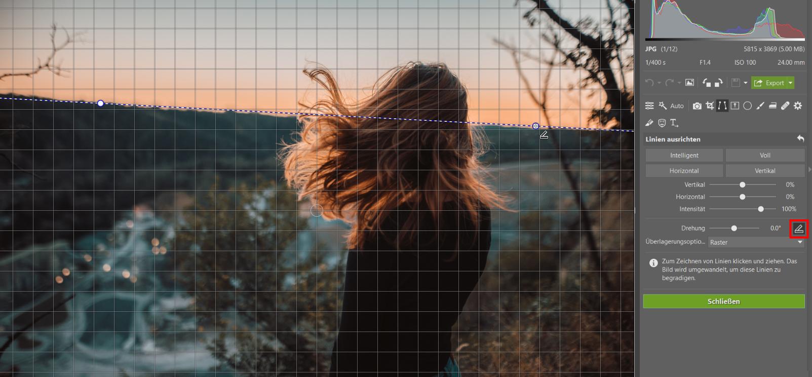 Sind Ihre Fotos schief? Richten Sie den Horizont und die Perspektive aus