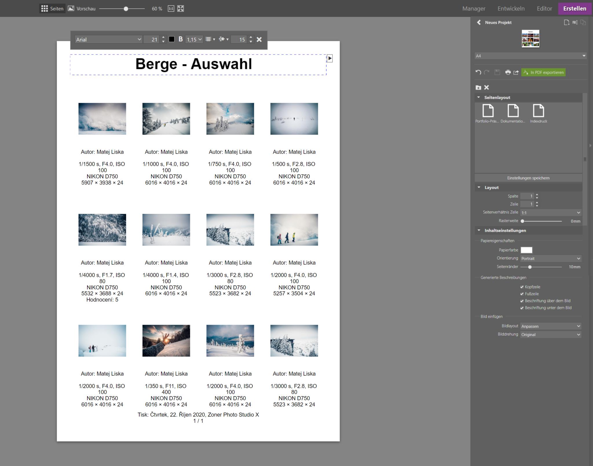 Mehrere Fotos auf eine Seite drucken - Erstellen Sie eine Fotocollage