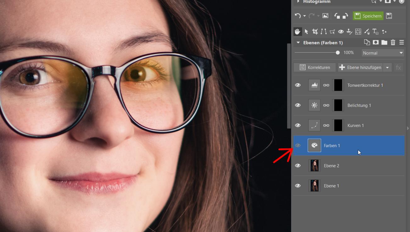 Wie entfernt man Spiegelungen von Brillen und anderen Glasgegenständen? Editor, Masken und Ebenen helfen Ihnen dabei