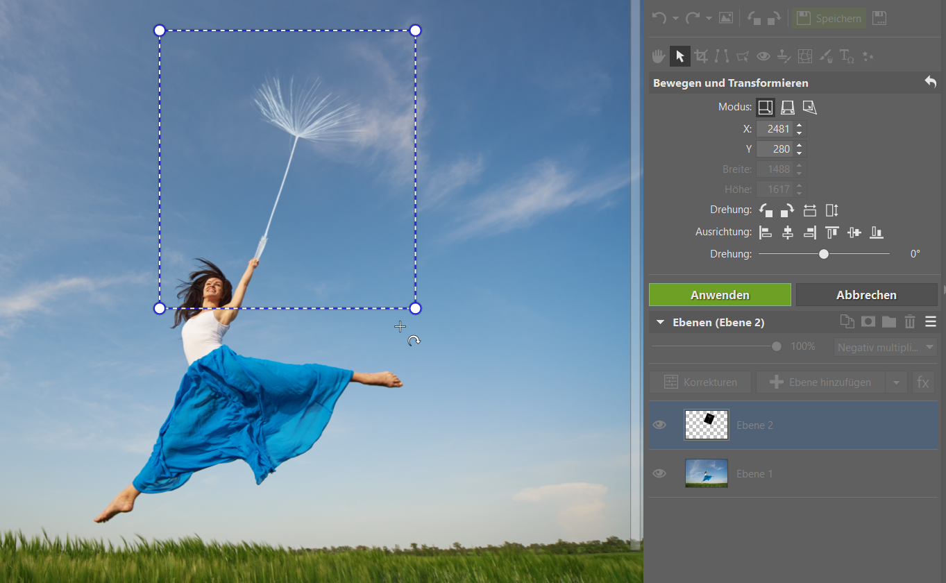 Fröhliche Frühlings-Fotomontage: Üben Sie das Arbeiten mit Ebenen
