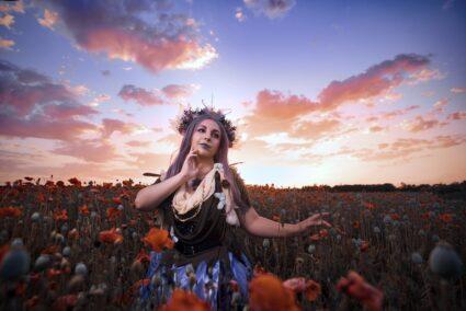 Porträt gegen den Himmel: Aufnahme und Bearbeitung